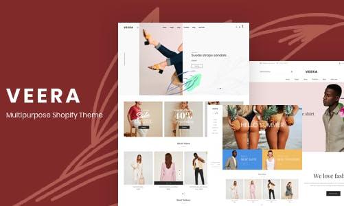 Veera 清晰简洁 时尚服装 Shopify主题