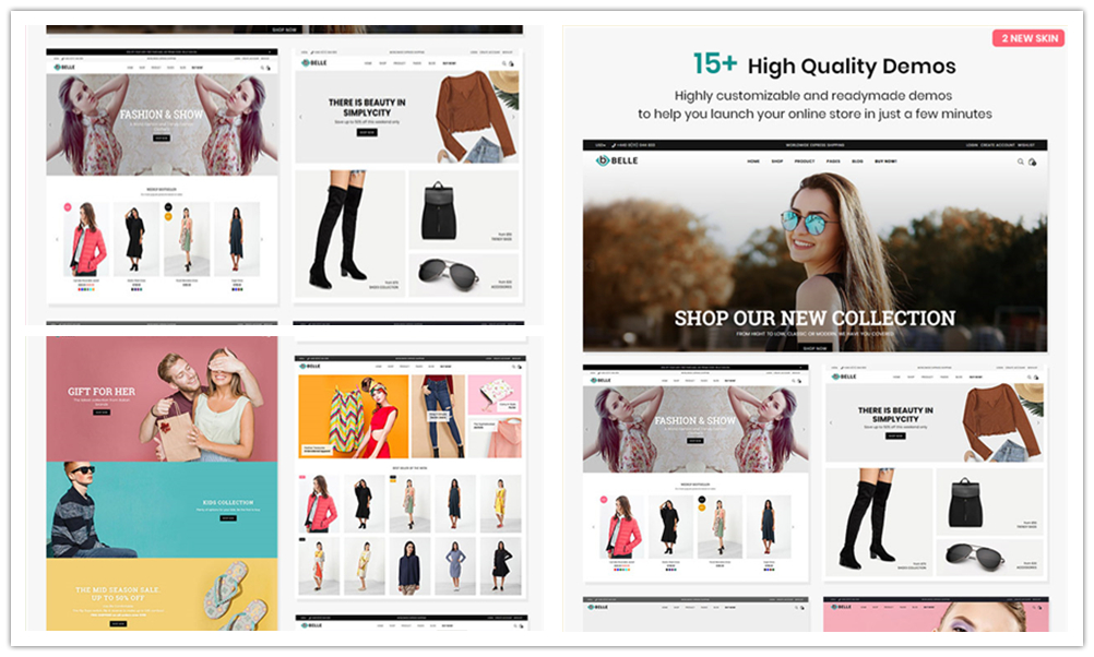 BELLE 服装/饰品/手表 Shopify主题