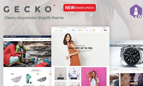 Gecko 时尚/服饰/日常用品 Shopify主题