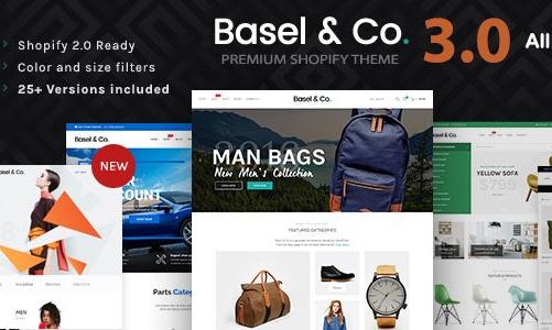 Basel  精品 汽车/服装/化妆品/电子商务 Shopify主题