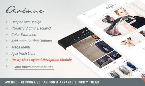 Avenue 简洁 时尚/服装 Shopify主题